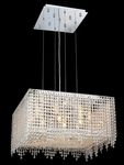 Krane Series 9-Light Chrome 22'' Square Box Pendant Chandelier with European, 30% Lead , or Colored 30% Lead Crystals SKU# 11271