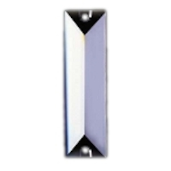 Clear 2.5in. Rectangular Prisms with 2 Holes European, 30% lead or Swarovski Spectra Crystal WGL101610-2.5 SKU# 11020