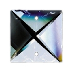 Clear .86in Square Prism European, 30% lead or Swarovski Spectra Crystal WGL1012020-22 SKU# 11016
