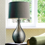 Dimond One Light Chrome Plated Grey Nylon Styrene Shade Table Lamp