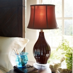 Dimond One Light Coffee Glaze Taupe Nylon Shade Table Lamp