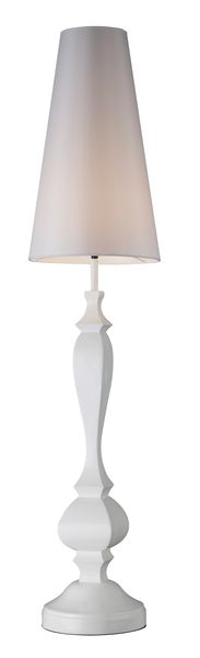 Dimond One Light Gloss White Floor Lamp