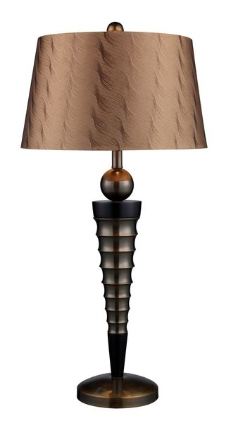 Dimond One Light Dunbrook And Dark Wood Table Lamp