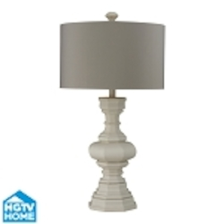 Dimond One Light Parisian Plaster Light Grey Faux Silk. With Matching Liner S