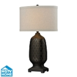 Dimond One Light Aria Bronze Sand Linen Shade Table Lamp