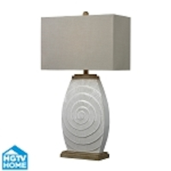 Dimond One Light Fauborg Glaze With Light Wood Tone Accents Sand Linen Cream