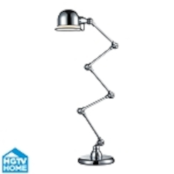 Dimond One Light Chrome Chrome Steel Shade Floor Lamp