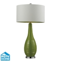 Dimond One Light Lime Green With Silver Accents And Chrome Base  Table Lamp