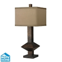 Dimond One Light Burnished Bronze Light Taupe Faux Silk Light Taupe Liner Sh