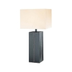 Lite Source Inc. Table Lamp Dark Brown Leather/White Fabric Shade A 150W