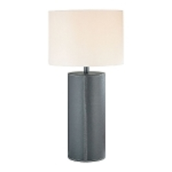 Lite Source Inc. Table Lamp Dark Brown Leather/Fabric Shade Cfl 25W/3-Way