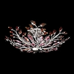 Crystal Forest Design Chrome or Gold European Crystal Semi Flush Mount MX23693/8 SKU# 10933