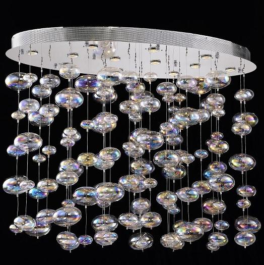 Bubbles Design 12 Light 47 Quot Polished Chrome Linear