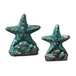 Sterling Industries Set Of 2 Ceramic Star Fish