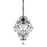 Sterling Industries Black Framed And Clearcrystal Mini Pendant Lamp