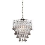 Sterling Industries Teak And Clear  Crystal Pendant Lamp