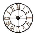 Sterling Industries Metal Framed Roman Numeral Open Back Wall Clock