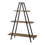 Sterling Industries Wooden Line Shelves With Metal Frame