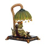 Sterling Industries Sleeping King Frog Mini Lamp