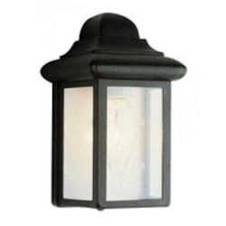 Trans Globe One Light Rust Clear Beveled Reflective Backing Glass Wall Lantern
