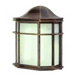 Trans Globe One Light Rust Frosted Acrylic Glass Wall Lantern