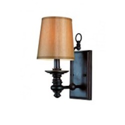 Trans Globe One Light Rubbed Oil Bronze Bathroom Sconce