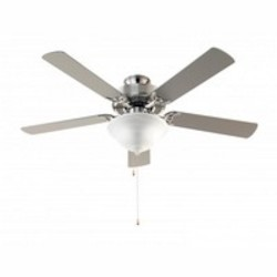 Trans Globe Three Light Brushed Nickel Alabaster Glass Ceiling Fan