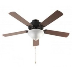 Trans Globe Three Light Alabaster Glass Rubbed Oil Bronze Ceiling Fan