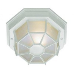 Trans Globe One Light White Frosted Octagon Glass Marine Light