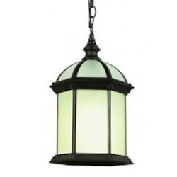 Trans Globe One Light Rust Frosted Beveled Glass Hanging Lantern