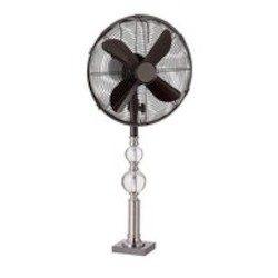 Trans Globe Polished Chrome Portable Fan
