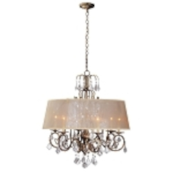 World Imports Six Light Gold Up Chandelier