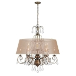 World Imports Twelve Light Gold Up Chandelier