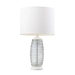 Dimond One Light Clear/White Pure White Nylon Styrene Shade Table Lamp