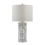 Dimond One Light Gloss White Pure White Nylon Styrene Shade Table Lamp