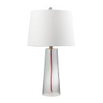 Dimond One Light Clear Pure White Cotton Styrene Shade Table Lamp