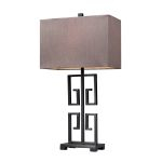 Dimond One Light Dark Bronze Dark Taupe Nylon Styrene Shade Table Lamp
