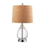 Dimond One Light Clear Cork Cork Styrene Shade Table Lamp