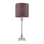 Dimond One Light Brushed Steel/Clear Plum Nylon Styrene Shade Table Lamp