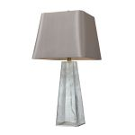 Dimond One Light Clear Light Grey Nylon Styrene Shade Table Lamp
