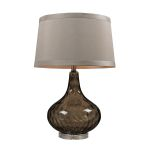Dimond One Light Coffee Smoked Taupe Nylon Styrene Shade Table Lamp
