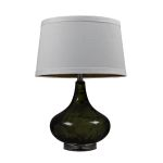 Dimond One Light Moss Smoked White Cotton Nylon Styrene Shade Table Lamp