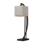 Dimond One Light Madison Bronze Off White Cotton Styrene Shade Table Lamp