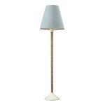 Dimond One Light Natural/White Blue Cotton Styrene Shade Table Lamp