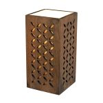 Dimond One Light Cameron Dark Stain Brown Wood Shade Table Lamp