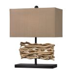 Dimond One Light Black+Nature Caramel Cotton Styrene Shade Table Lamp