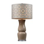 Dimond One Light Ballygowan Taupe Off White Nylon Styrene Shade Table Lamp