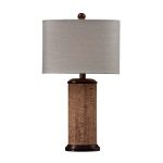 Dimond One Light Natural Cork/Brown Light Beige Cotton Styrene Shade Table L
