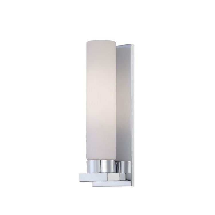 Lite Source Inc. Wall Sconce Chrome/Frost Glass Fluor. Bulb Pl/Gu24 26W