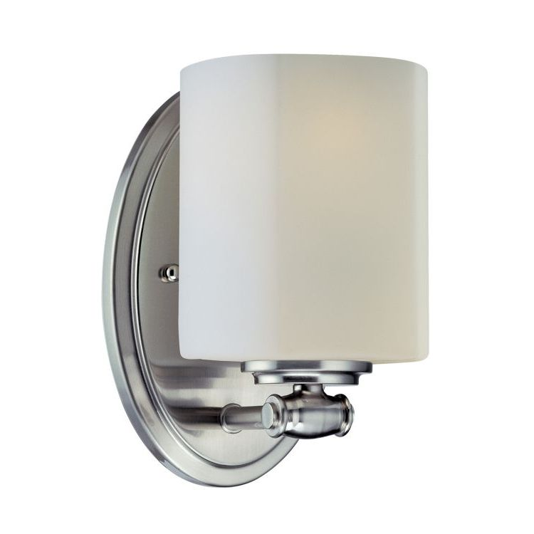 Lite Source Inc. Wall Sconce Ps/Frost Glass Shade E27 Cfl 13W